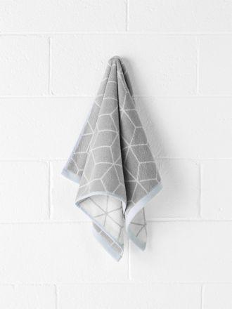 Sine Hand Towel - Dove