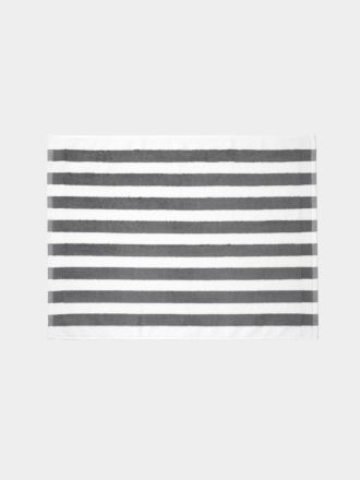Stripe Bath Mat - Smoke