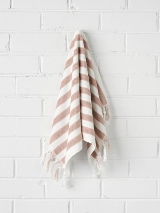 Stripe Hand Towel - Blush
