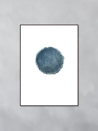 Blue Water Moon Art Print by Trine Holbaek