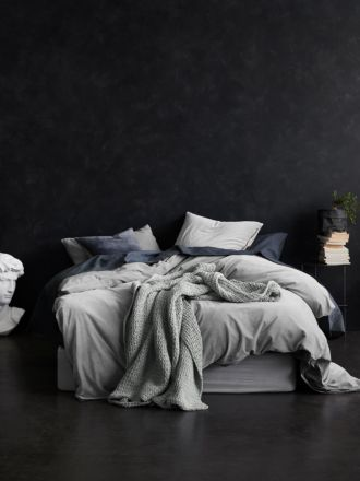 Luxury Velvet Quilt Cover - Dove