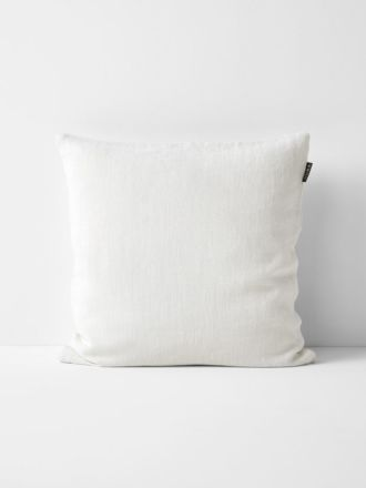 Vintage Linen Cushion - Marshmallow