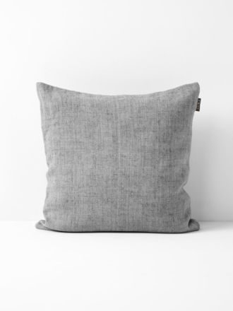 Vintage Linen Cushion - Smoke