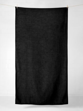 Vintage Linen Tablecloth - Black