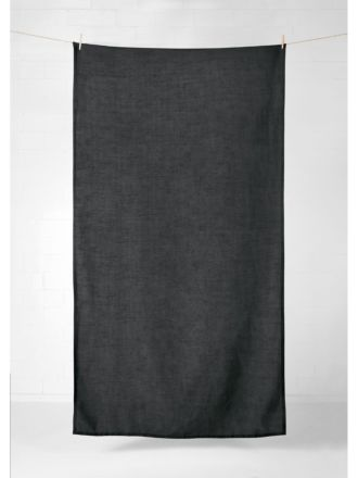 Vintage Linen Tablecloth - Charcoal