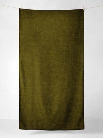 Vintage Linen Tablecloth - Khaki