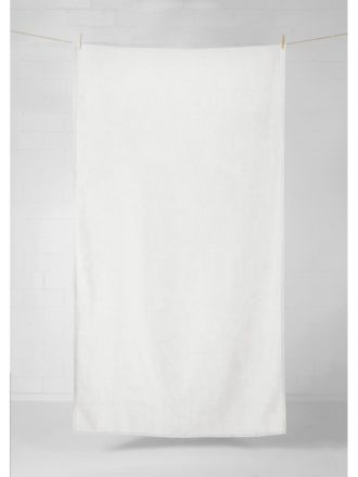 Vintage Linen Tablecloth / Throw - Marshmallow