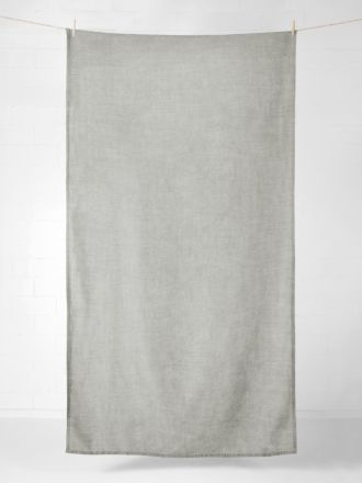 Vintage Linen Tablecloth / Throw - Mink
