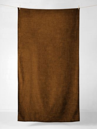 Vintage Linen Tablecloth - Tobacco