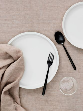 Vintage Linen Tablecloth - Blush