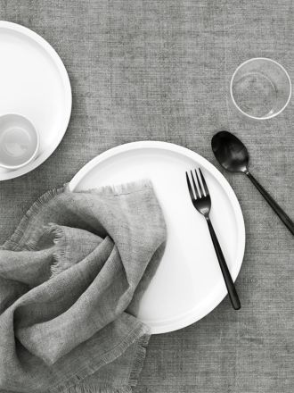 Vintage Linen Tablecloth - Smoke