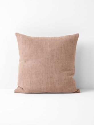 Vintage Linen Cushion - Clay
