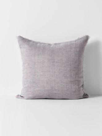 Vintage Linen Fringe Cushion - Iris