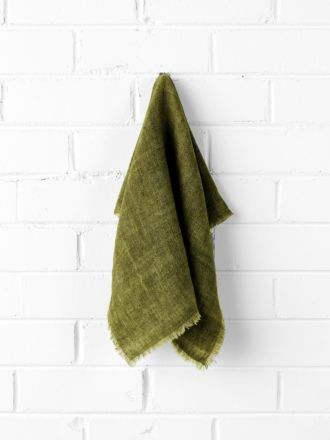 Vintage Linen Napkins set of 4 - Olive