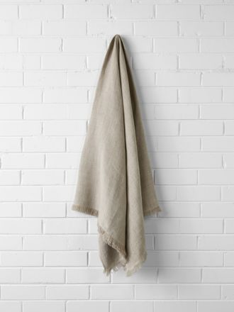 Vintage Linen Throw - Natural