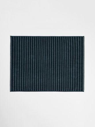 Vintage Stripe Bath Mat - Slate
