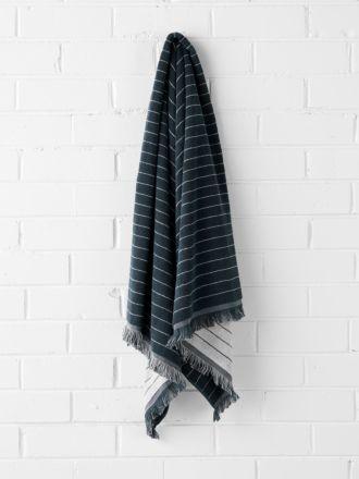 Vintage Stripe Bath Sheet - Slate