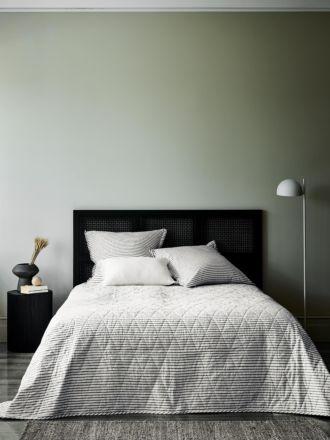 Vintage Stripe Bed Cover - Ink