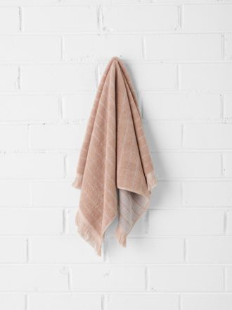 Vintage Stripe Hand Towel - Pink Clay