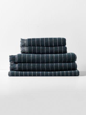 Vintage Stripe Towel Set - Slate