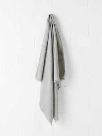 Vintage Linen Throw - Pebble
