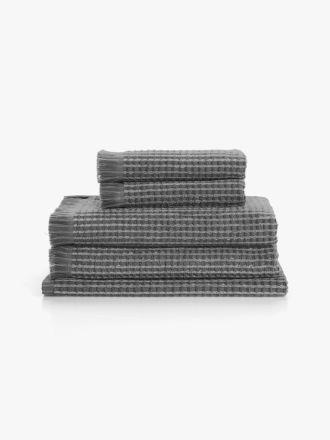 Waffle Bath Towel Set - Smoke