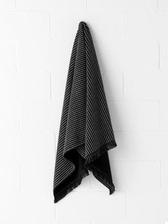 Waffle Bath Towel - Black