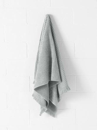 Waffle Bath Towel - Dove