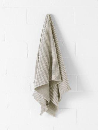 Waffle Bath Towel - Natural