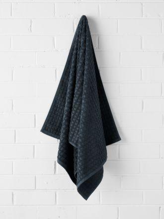 Waffle Bath Towel - Slate