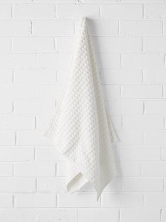 Waffle Bath Towel - White