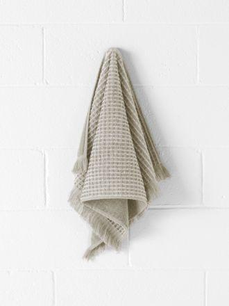 Waffle Fringe Hand Towel - Natural