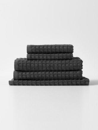 Waffle Bath Towel Set - Charcoal