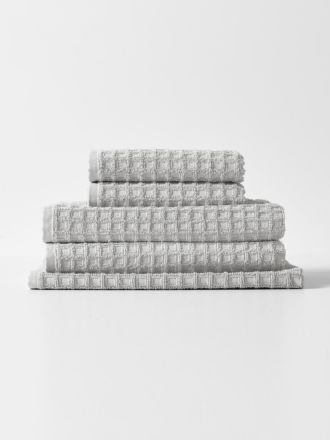Waffle Bath Towel Set - Dove
