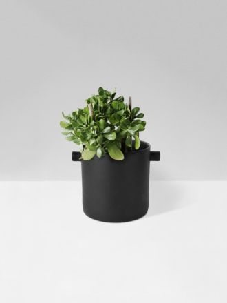 Charcoal Handle Planter Large by Zakkia