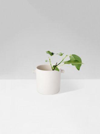 White Handle Planter Small by Zakkia
