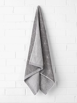 Chambray Diamond Bath Towel - Cloud Grey