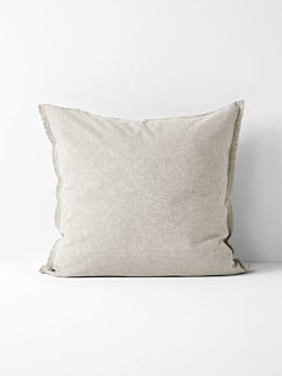 Chambray Fringe European Pillowcase - Natural