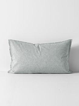 Chambray Fringe Standard Pillowcase - Limestone