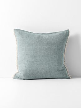 Chambray Linen Cushion - Cloud Blue
