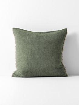 Chambray Linen Cushion - Khaki