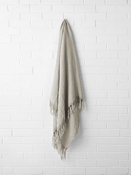 Chambray Linen Throw - Natural