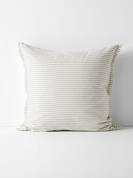 Chambray Vintage Stripe European Pillowcase - Dove