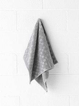 Check Hand Towel - Grey Marle