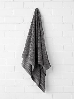 Contour Bath Towel - Charcoal