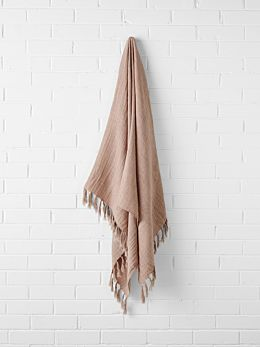 Double Layer Throw - Clay