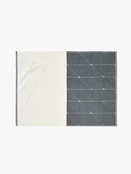 Duet Bath Mat - Smoke/White
