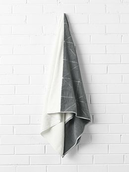 Duet Bath Sheet - Smoke/White