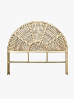 Avery Arch Woven Bedhead in Natural - August delivery