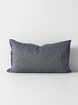 Herringbone Standard Pillowcase - Ink